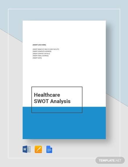 sample healthcare swot analysis template