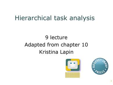 sample hierarchical task analysis