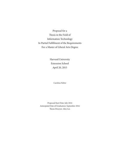 sample it thesis proposal