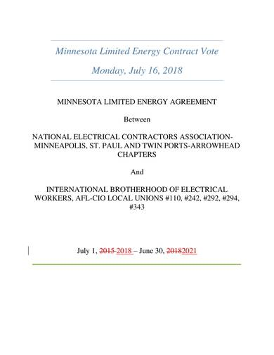 sample limited energy agreement
