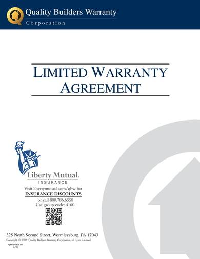 sample limited warranty agreement
