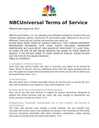 sample news website terms of service