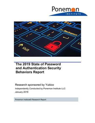 sample password and authentication security behaviors report