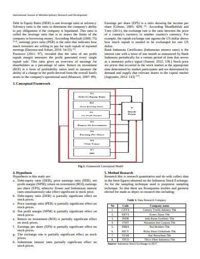 sample price earnings ratio in pdf