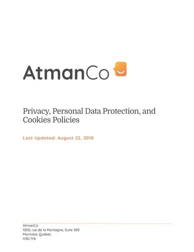 sample privacy personal data protection and cookies policies