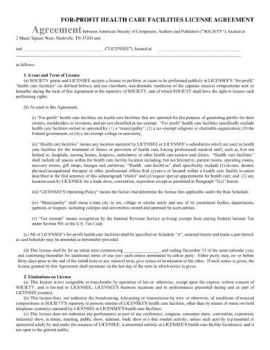 sample private hospital license agreement