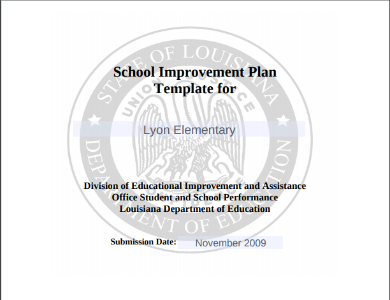 sample school implementation plan template