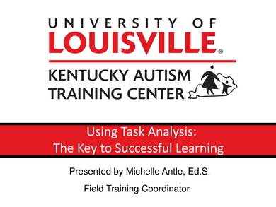 sample task analysis for successful learning