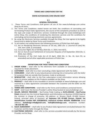 sample terms and conditions for online shops