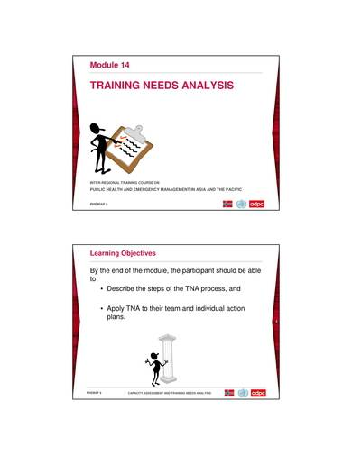 sample training analysis