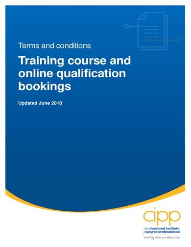 sample training course and online qualification bookings terms and conditions