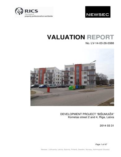 sample valuation report