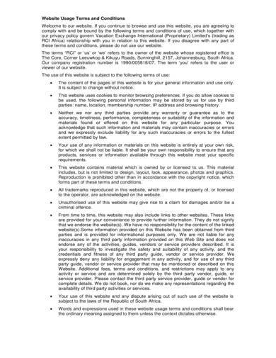 sample website usage agreement terms and conditions