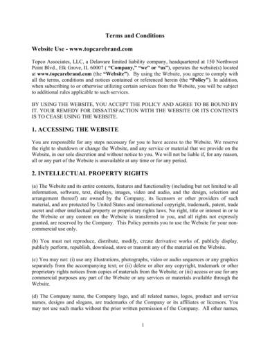 sample website use terms and conditions