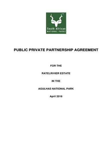 sample of a basic public private partnership agreement