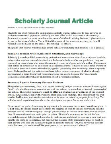 scholary journal article