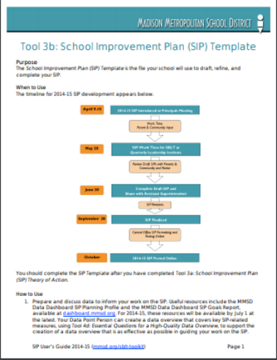 school implementation plan template