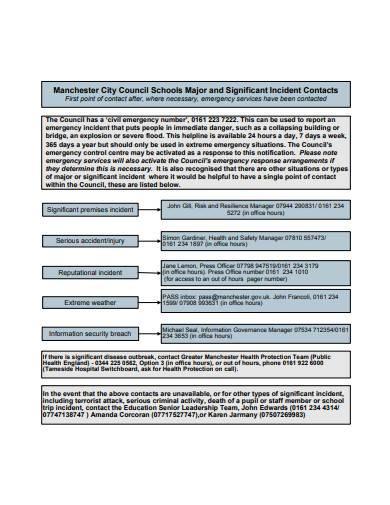 significant incident management framework