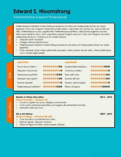 simple minimalist infographic resume template