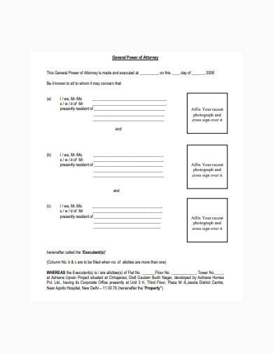 simple power of attorney template