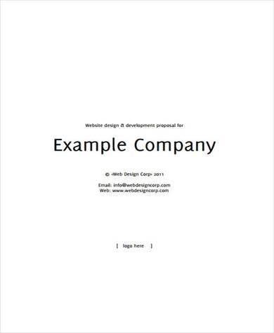 simple website design and development proposal