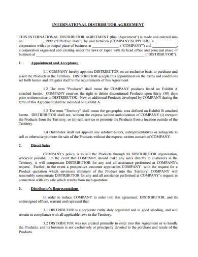 software distributor agreement