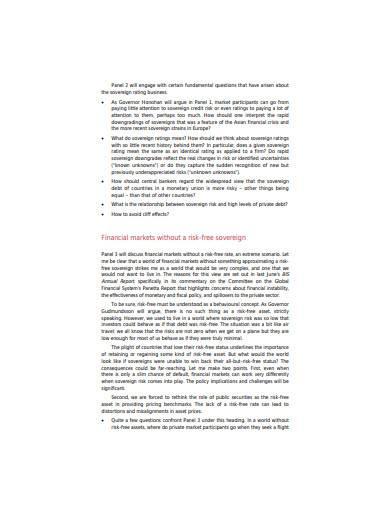 sovereign risk template