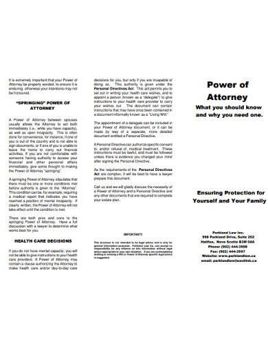 springing power of attorney in pdf
