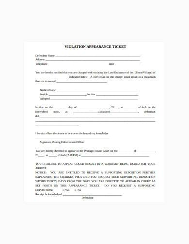 supporting deposition notice sample