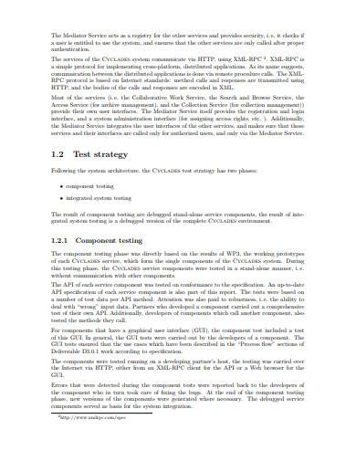 system testing report template