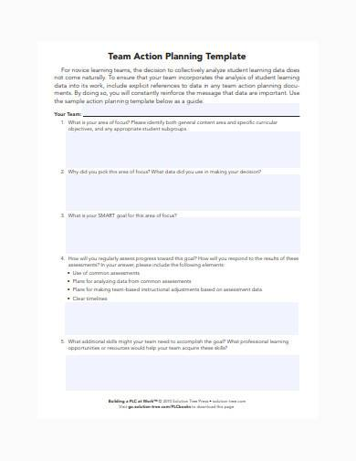 team action planning template