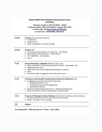team agenda in pdf