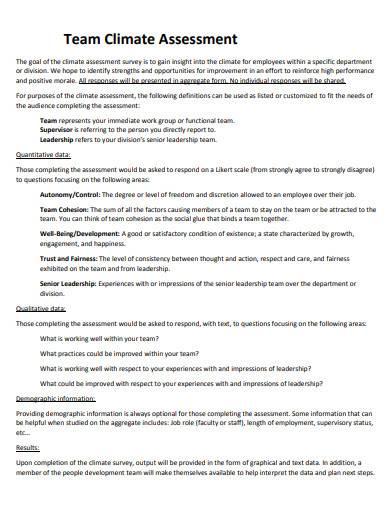 team climate assessment