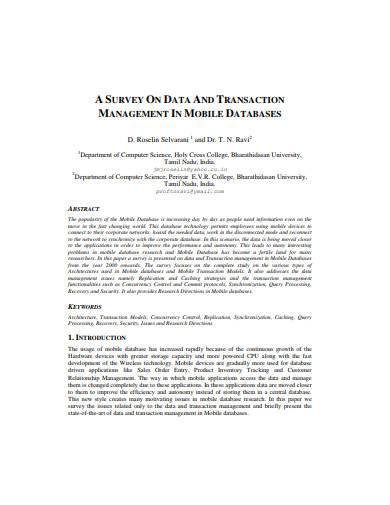 transaction management survey template