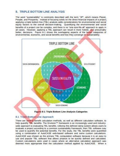 triple bottom line analysis example