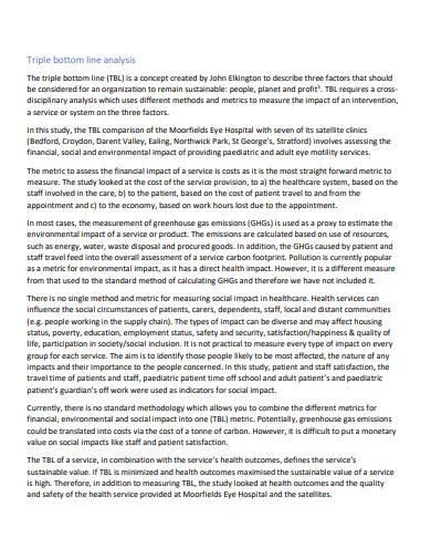 triple bottom line analysis in pdf