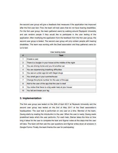 user testing report template