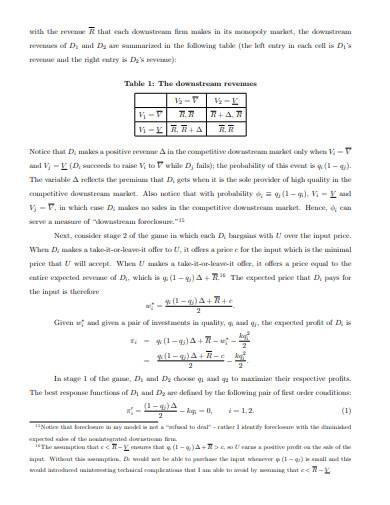 vertical backward integration sample
