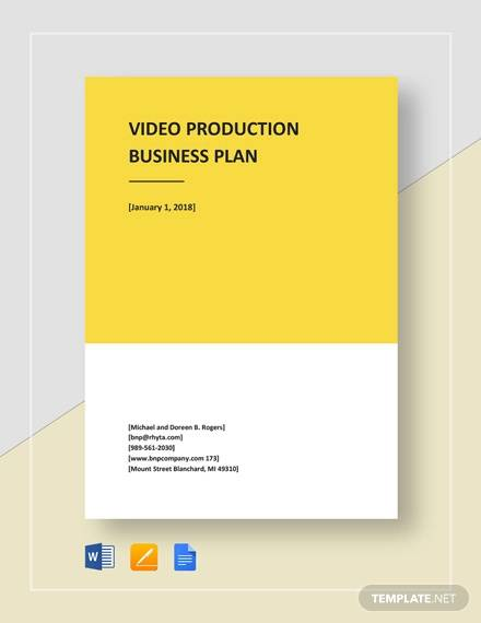 video production business plan template