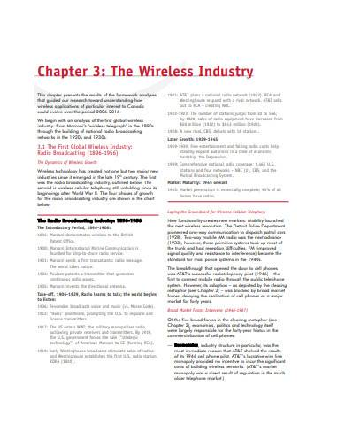 wireless technology roadmap sample