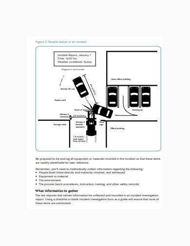 accident sketch parking lot sample