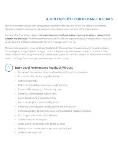 align employee performance and goals