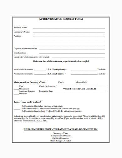 basic authentication request form