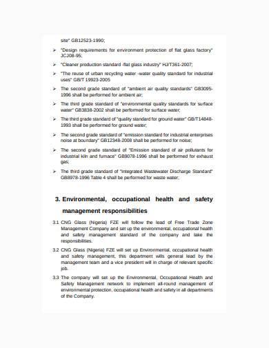 basic environmental management plan template