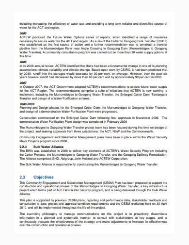 basic stakeholder management plan sample