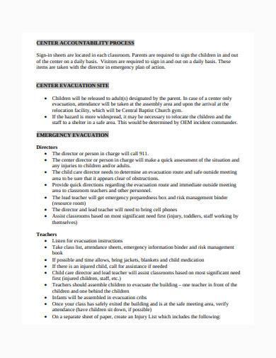 child development risk management plan template