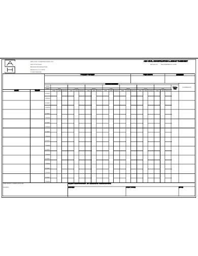 civil construction labour timesheet