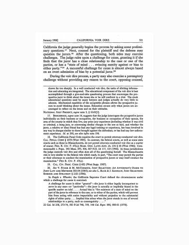 civil jury voir dire notes sample