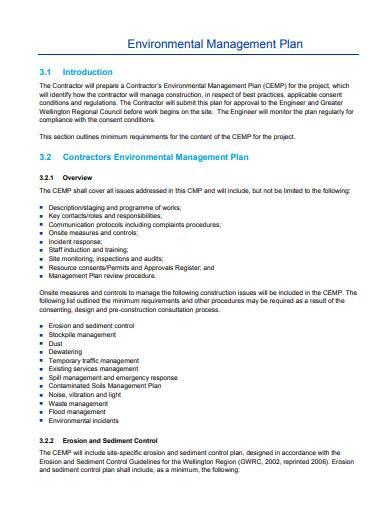 civil works construction management plan