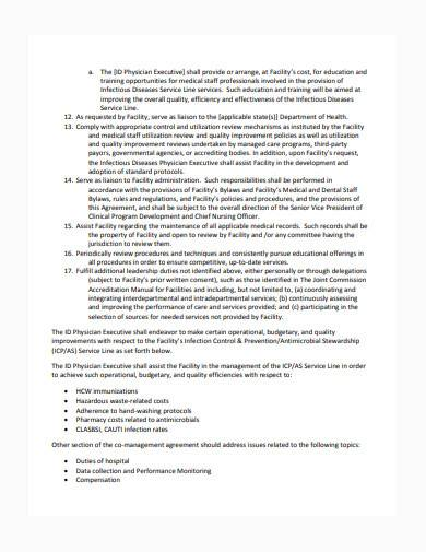 co management agreement template